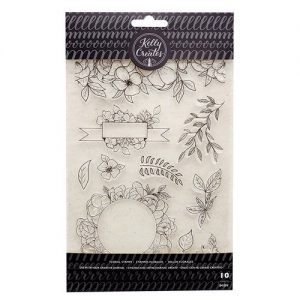 Kelly Creates Floral stamp set flowers
