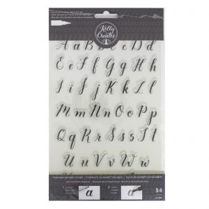 alphabet stamps calligraphy lettering