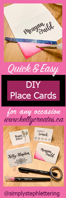 diy place cards wedding or special occasion quick and easy kellycreates.ca