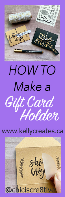awesome tutorial for a gift card holder with FREE templates and SVG files to download