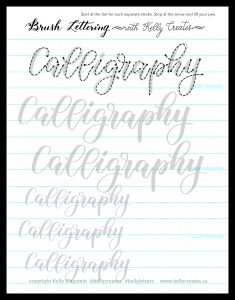 love this free worksheet to download, print and practice! bouncy calligraphy style www.kellycreates.ca
