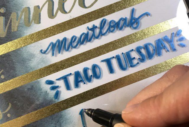 DIY Family Menu board Dry Erase with Hand Lettering Tutorial www.kellycreates.ca