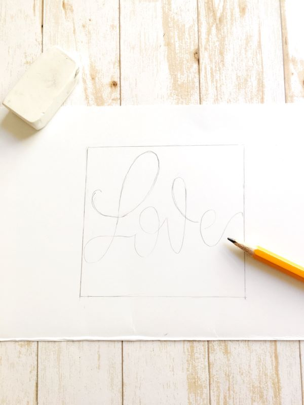 Love this quote layout design tutorial about mixing lettering styles using brush pens and markers www.kellycreates.ca