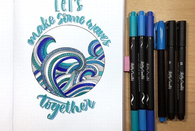 Awesome lettering project for a journal or planner or home decor piece www.kellycreates.ca