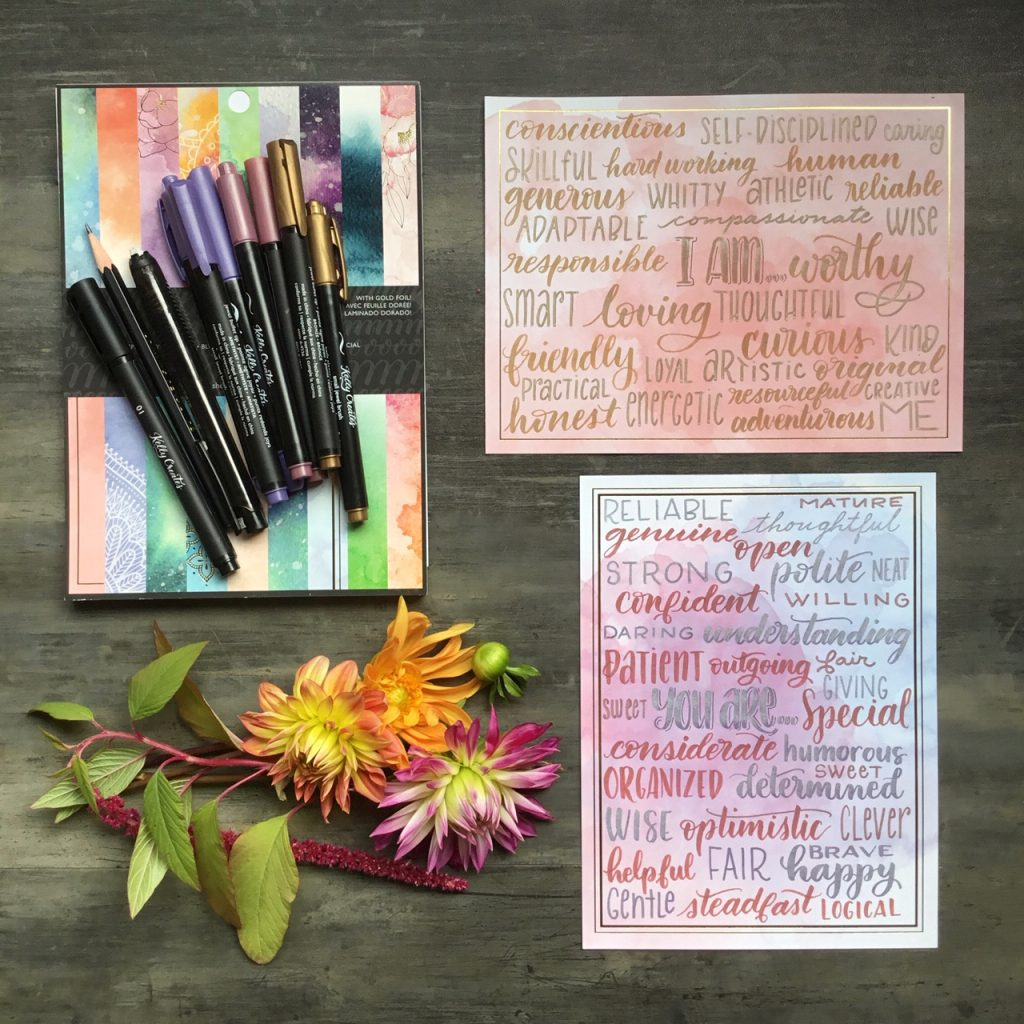 Beautiful hand lettered affirmations and inspirational words home decor project tutorial www.kellycreates.ca