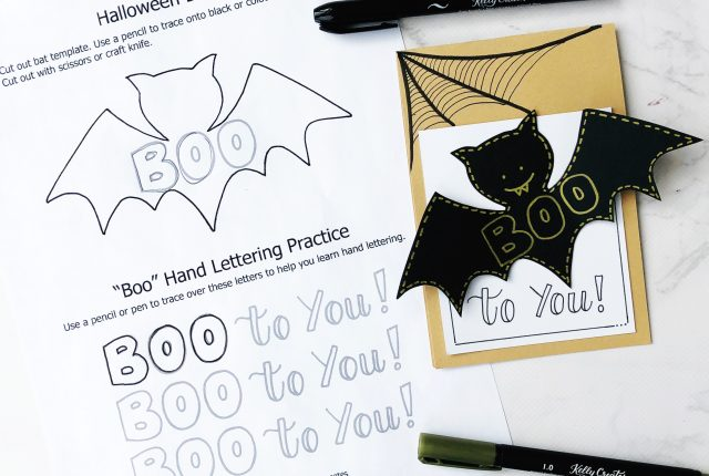 cutest halloween card free printable template and tutorial