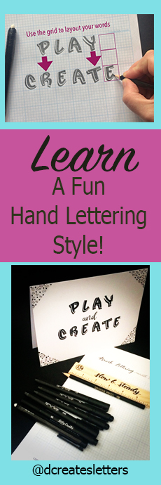 awesome hand lettering style to learn for journals, cards, home decor and more www.kellycreates.ca