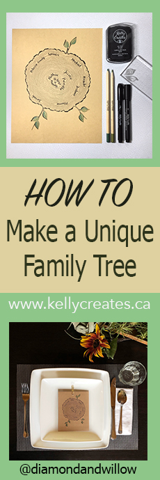 Fantastic tutorial for a family tree like I've never seen before www.kellycreates.ca