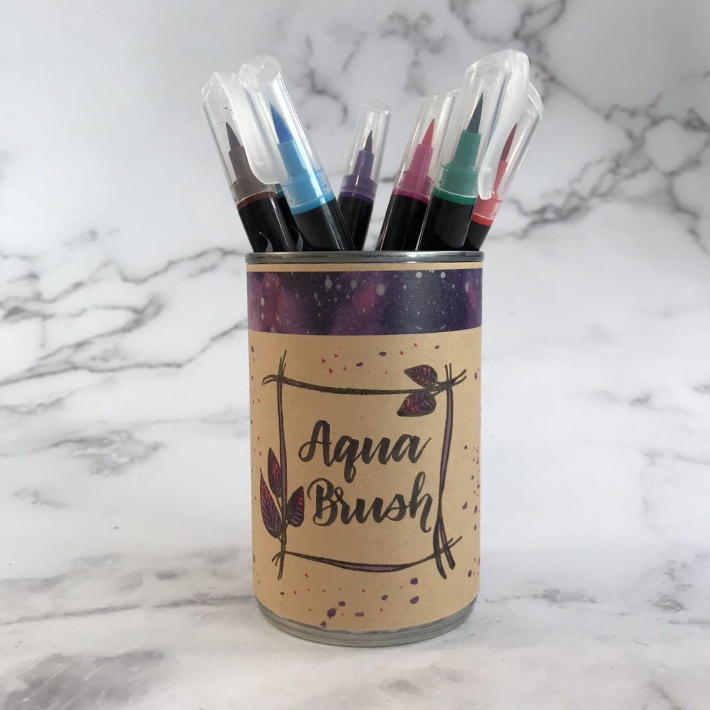 DIY pen storage and organization tutorial www.kellycreates.ca