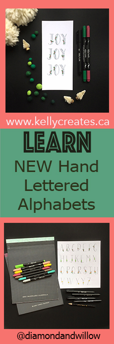 LEARN new hand lettered alphabet styles
