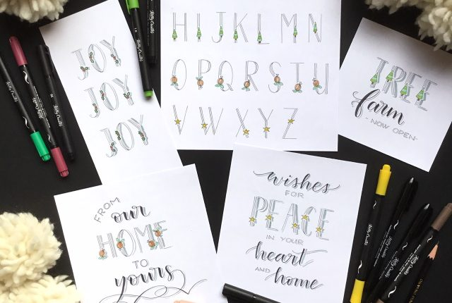 Super hand lettered alphabet samples to copy and learn www.kellycreates.ca