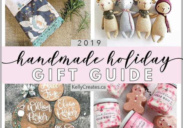 Handmade Holiday Gift Guide 2019 with 4 amazing artisans and makers www.kellycreates.ca