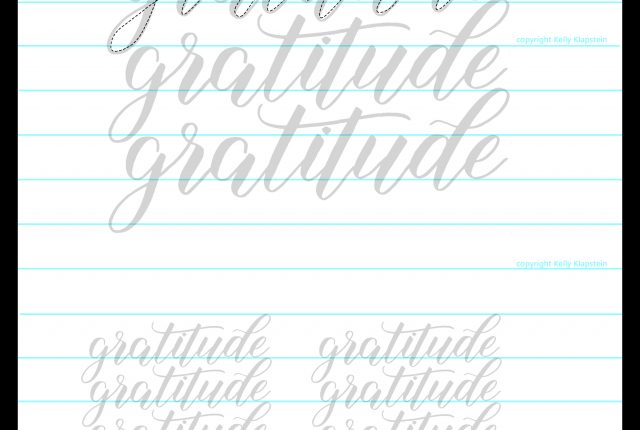 FREE bouncy lettering printable worksheet template guide to download an practice www.kellycreates.ca