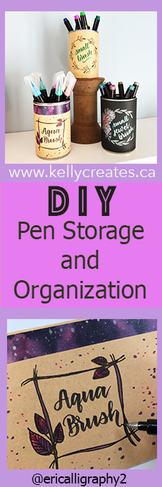 AWESOME tutorial DIY pen storage and organization up cycling project www.kellycreates.ca