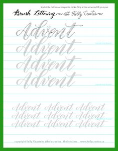 free download worksheet printable for brush pens calligraphy brush lettering