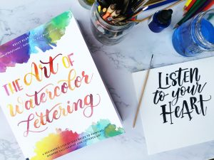 The art of watercolor lettering book by Kelly Klapstein www.kellycreates.ca