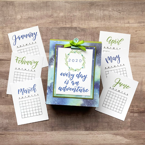 Love this easy DIY stamped calendar tutorial www.KellyCreates.ca