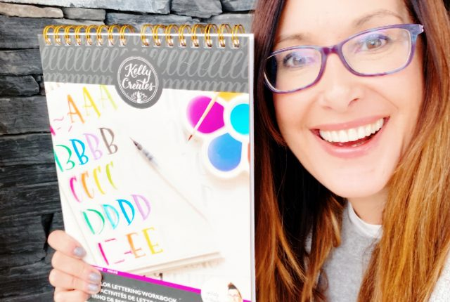 Kelly Creates Kelly Klapstein Watercolor Lettering workbook