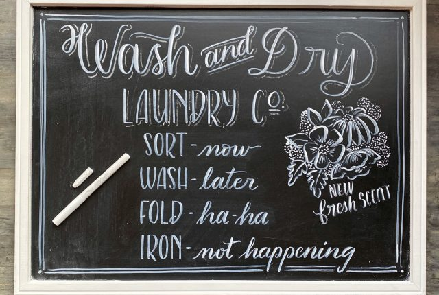Fake Chalkboard Lettering DIY with FREE printable tracing worksheet www.KellyCreates.ca