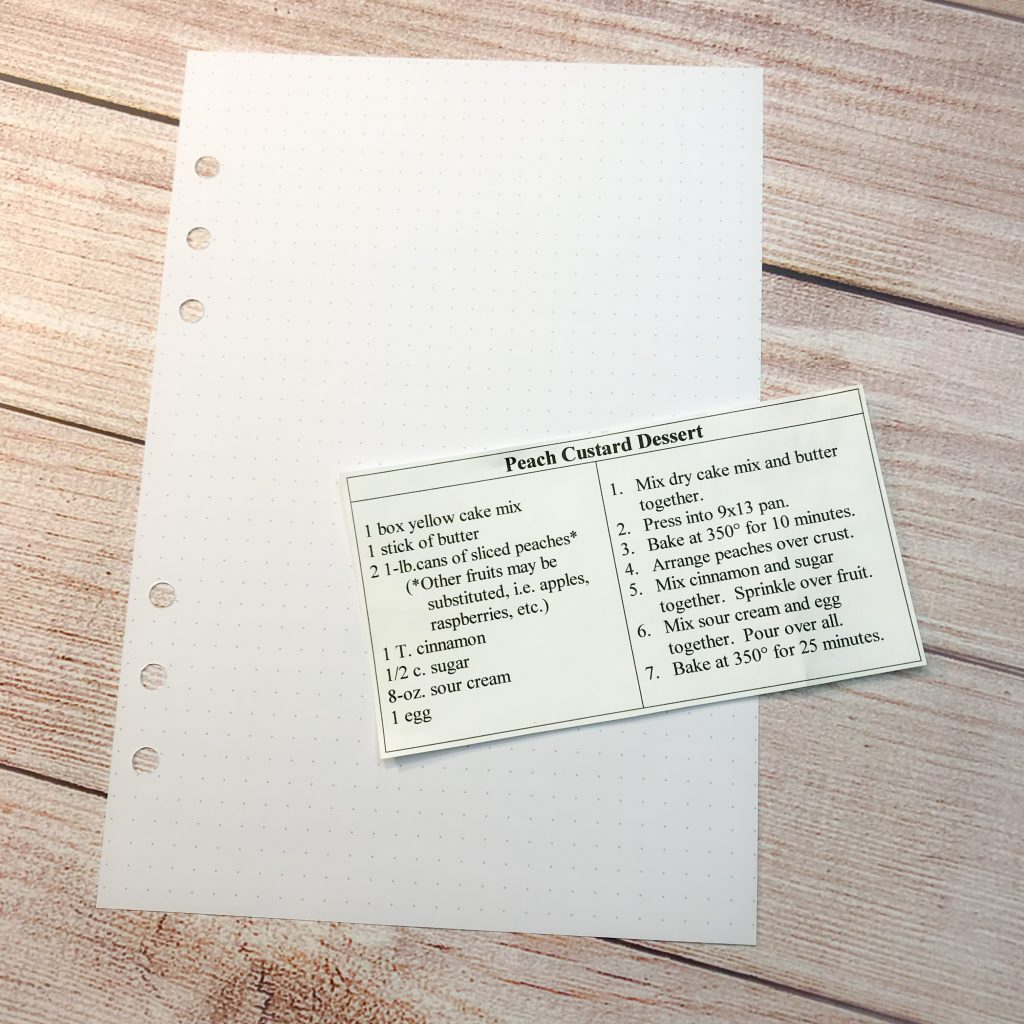 How to make a recipe book with lettering and a delicious free recipe too www.kellycreates.ca