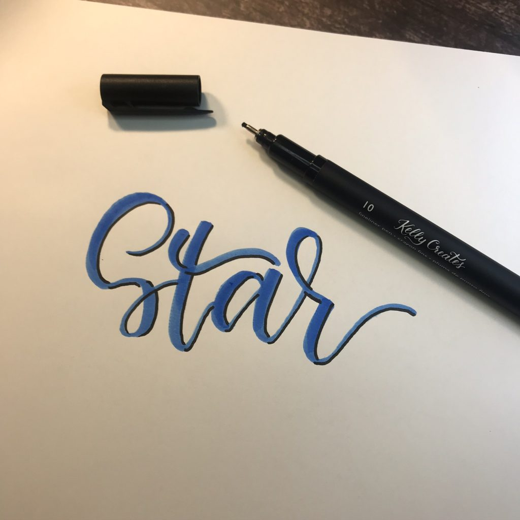 Awesome super hero star lettering template tutorial with free printable www.KellyCreates.ca