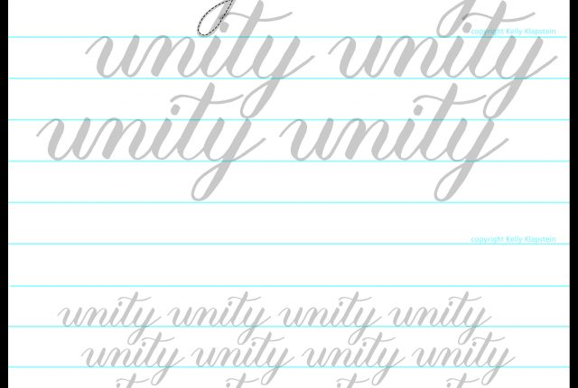 Free printable worksheet to download and practice brush lettering June 2020 www.kellycreates.ca guide, template for writing with a brush pen