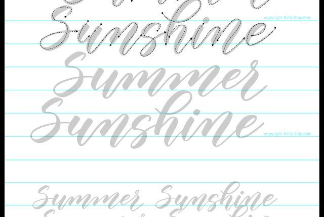Modern Calligraphy – Kelly Creates