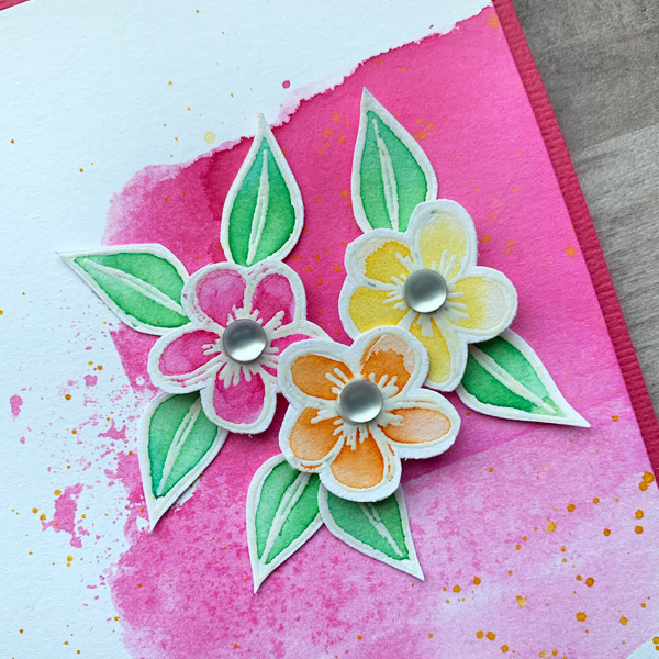 watercolor with embossed stamping cards and scrapbook layouts www.KellyCreates.ca