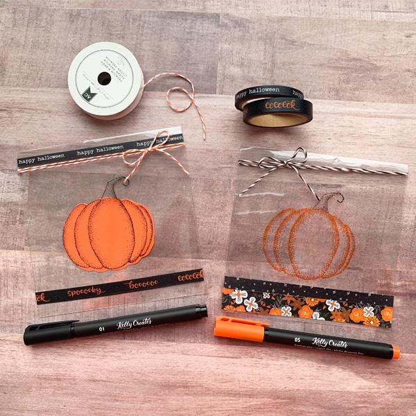 Easy Cute Halloween DIY crafts treat bags www.kellycreates.ca