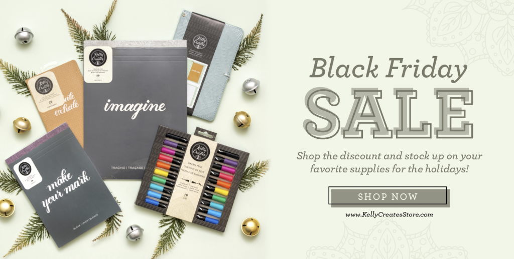 Black Friday stationery on sale pens, paper, art supplies, water-colour, www.kellycreatesstore.com