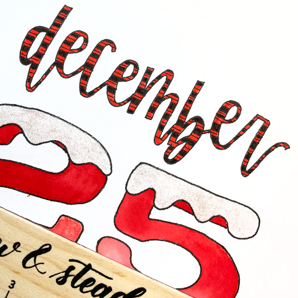 Christmas Holiday Home Decor Lettering project with Watercolour Tartan plaid www.kellycreates.ca