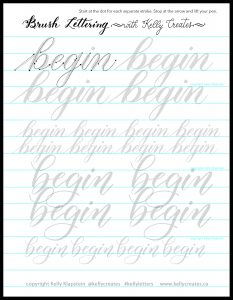 free printable worksheets to download for brush pens calligraphy and lettering www.kellycreates.ca