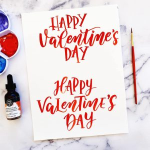 free worksheet lettering Valentine's Day February download printable practice www.kellycreates.ca