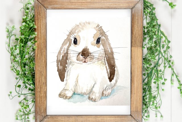online class watercolor bunnies with kellycreates.ca beginners welcome