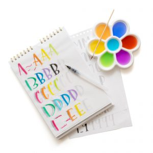 learn watercolor lettering with workbooks and paints kellycreates.ca
