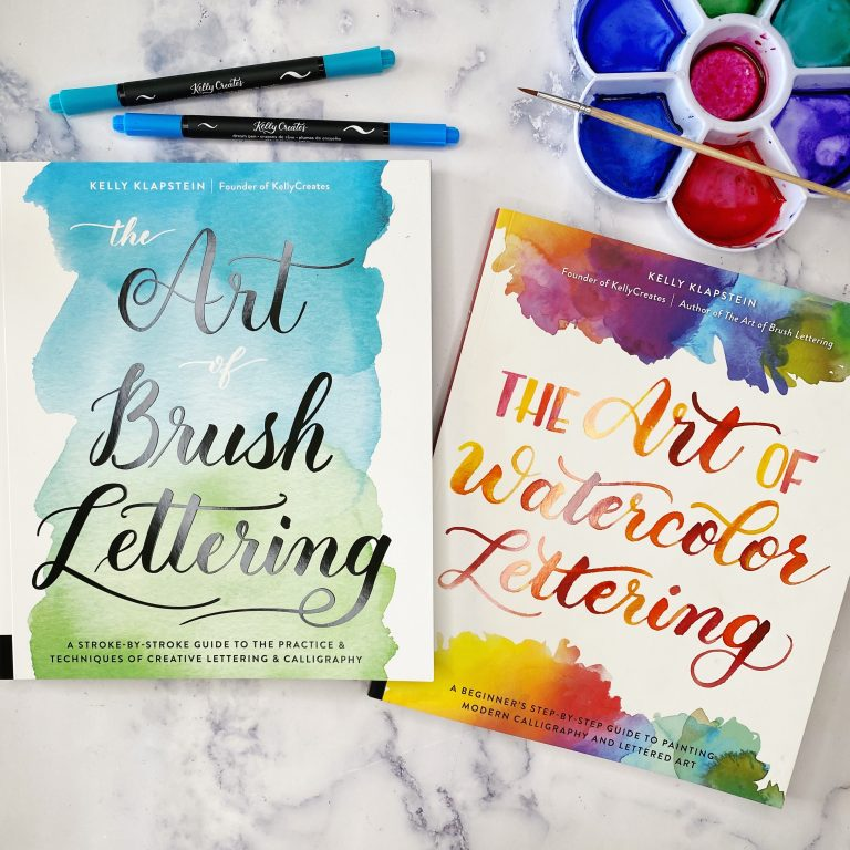 Book The Art of Watercolor Lettering and the Art of Brush Lettering