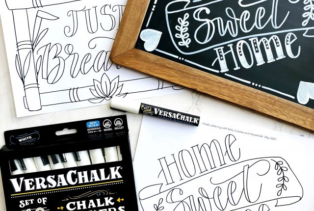Chalk lettering workshop with printable templates www.kellycreates.ca