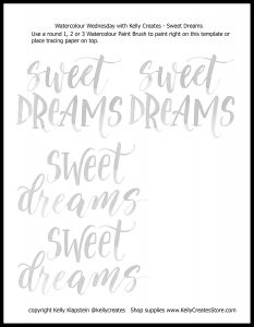 free printable download worksheet template for lettering www.kellycreates.ca