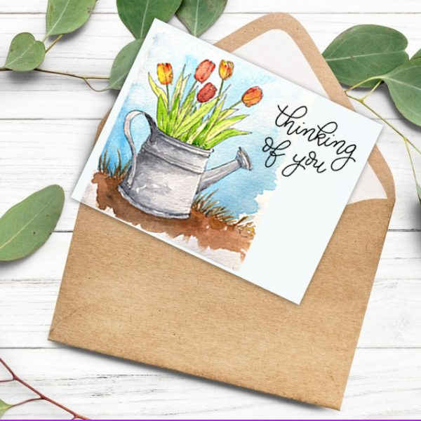 watercolor tulips cards online class kellycreates.ca