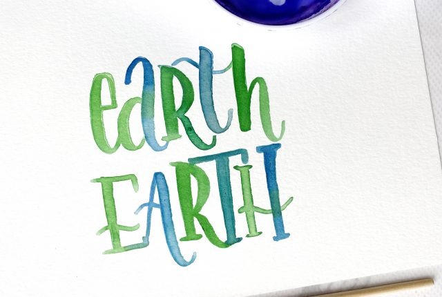 earth day free printable template for lettering www.kellycreates.ca