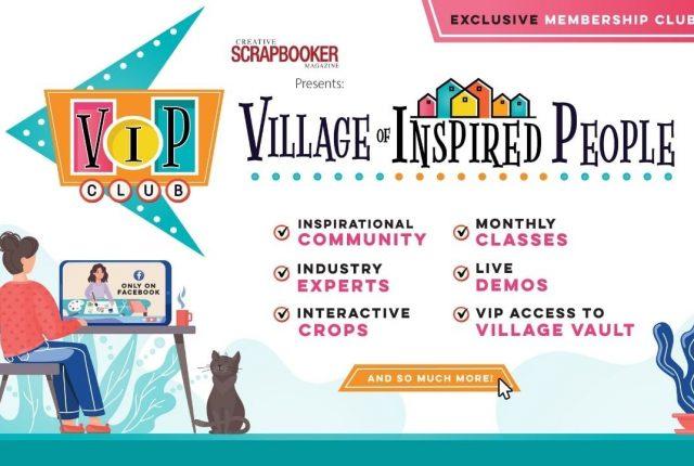 VIP scrapbooking club membership creativescrapbooker.ca