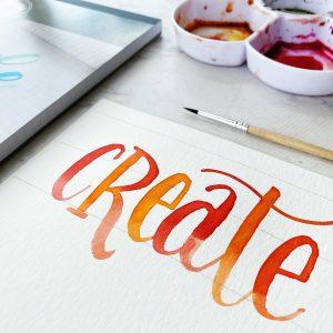 watercolor lettering free printable template www.kellycreates.ca