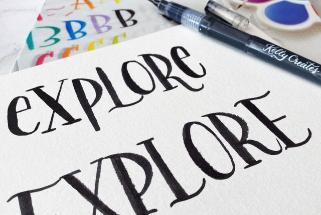 kellycreates.ca watercolor lettering template free printable to download