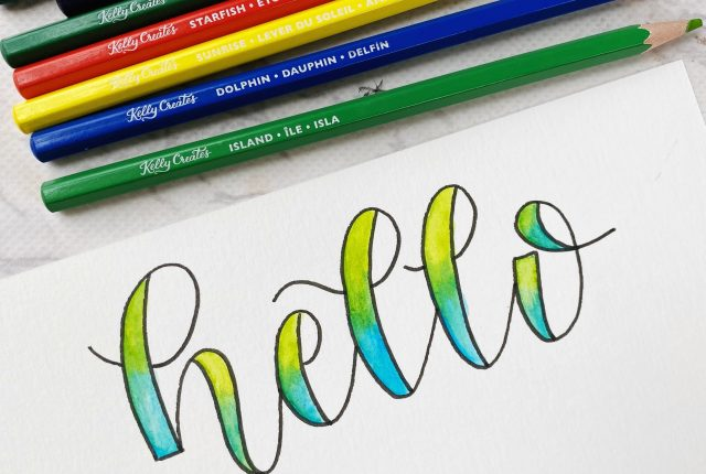 faux calligraphy watercolor lettering free printable template and tutorial www.kellycreates.ca
