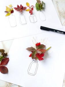 how to draw vases for dried flowers illustrations on cards and journals www.kellycreates.ca