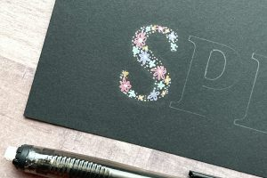 Spring floral hand lettering tutorial kellycreates.ca