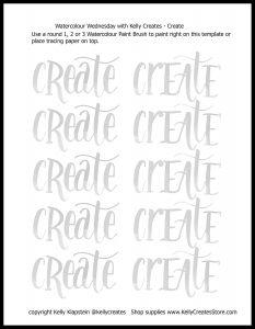 free printable worksheet for hand lettering create www.kellycreates.ca