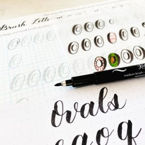 free printable worksheet to download for modern calligraphy practice guide www.kellycreates.ca ovals