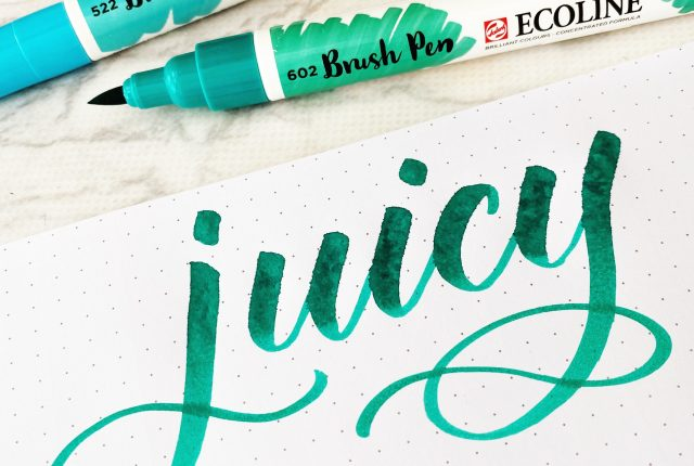 how to use juicy brush pens www.kellycreates.ca