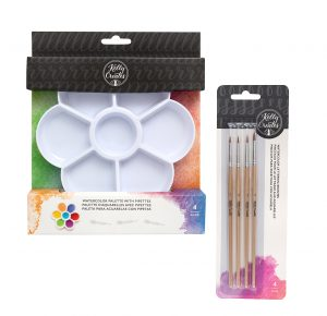 Kelly Creates Watercolor Lettering Brushes and Palette with Pipettes